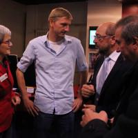 Martin Schulz im Gespräch mit Michael Maffenbeier und Susanne Hoffmann