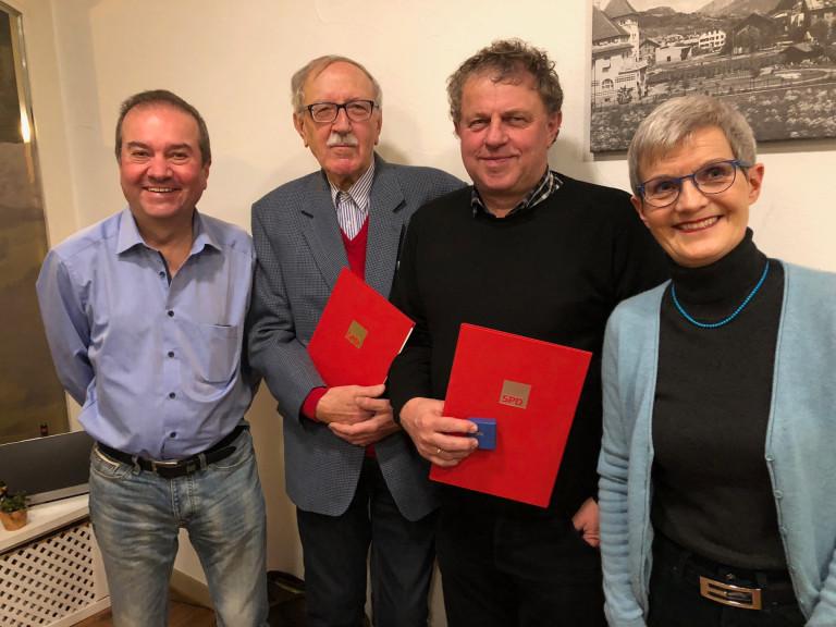 Von links Jörg Hilbert, Peter Birke, Winfried Engeser, Susanne Hofmann